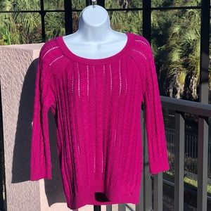 American Eagle Outfitters Sweater Plum Cotton SZ S